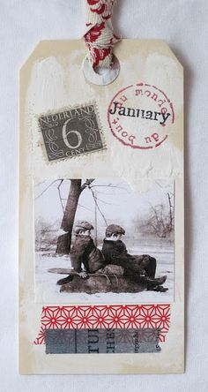 cute tag for Winter | via RedBird Paperie