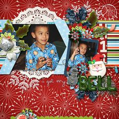 Digital Scrapbook Page by Ophelia| Countdown to Christmas by Bella Gypsy