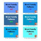 Word family patterns are groups of words that have a common feature or pattern in words.  They have some combination of letters in them with simila...