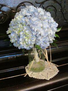 Wedding bouquet- Blue Hydrangea