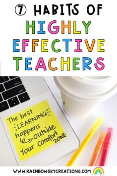 We have thought long and hard and have listed the 7 habits that we believe highly effective teachers share and engage in. Read more here... Elementary School Counseling, School Counselor, School Classroom, Elementary Schools, Teacher Organization, Teacher Hacks, Counseling Activities, Learning Activities, Creative Teaching