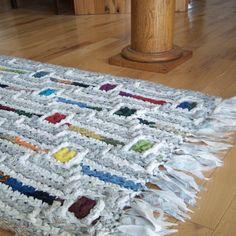 Multicolor Crocheted Rag Rug - Rainchain