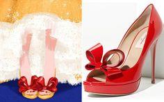 Inspirados em grifes famosas, ilustradores da Disney desenham sapatos para as princesas - Moda - CAPRICHO