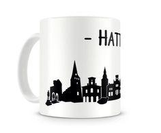 Tasse Hattingen Skyline. Eine Tasse bedruckt mit der Skyline von Hattingen