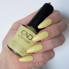 Spring Pastels Manicure With CND Vinylux CND Vinylux 'Jellied', yellow nails, pastel spring manicureCND Vinylux 'Jellied', yellow nails, pastel spring manicure Yellow Nails Design, Yellow Nail Art, Short Nail Designs, Nail Designs Spring, Spring Nail Colors, Spring Nails, Pastel Nails, Acrylic Nails, Summery Nails