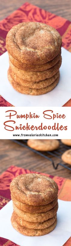Classic snickerdoodles dressed up for fall! ~ http://www.fromvalerieskitchen.com