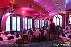 Casa Larga Pink Up Lighting from Sound Express Entertainment Group!