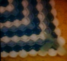CROCHETED BABY BLANKET WITH BAVARIAN STITCH Baby Blanket Crochet, Crochet Baby, Friendship Bracelets, Stitch, Full Stop, Stitches, Crochet Baby Blankets, Crochet For Baby, Crochet Baby Dresses