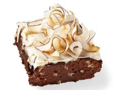 Food Network's 50 Brownies including these Tropical Brownies w/ macadamia nuts and toasted coconut.