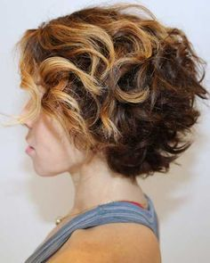 Short Hairstyle with Cute Curly Back