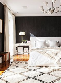 Go Monochrome with Beni Ourain Carpets When it comes to trend appeal, Beni Ourain carpets show no signs of stopping. Not only are they ultraplush and soft underfoot, but they're also stylistically versatile. From updated midcentury to bona fide boho to modern with worldly flair, these rugs run the style gamut. One of our favorite uses is in a superneutral room for an ambience that's calm, cool, and heavenly.