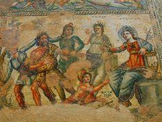 Apollo and Marsyas. House of Aion Mosaic, Paphos.