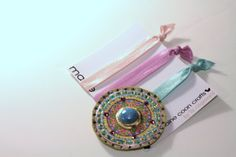 Romantic Vintage Hair Ties, Bohemian Hair Wrap, Bracelet Wrap, Fairy Tale, Circle of Life Mandala