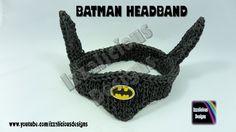 Rainbow Loom Batman Headband/Bracer - Single Loom - Gomitas