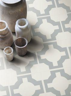 Parquet Vinyl Floor Tile - Sage from the Neisha Crosland Portfolio. #NeishaCrosland