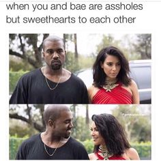 kim kardashian, funny, and kanye west image Funny Facts, Funny Relatable Memes, Funny Jokes, Hilarious, Stupid Funny, Funny Cute, The Funny, Relationship Memes, Cute Relationships