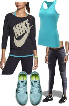 Just do it-nike fitness fashion. workout s Athletic Outfits, Athletic Wear, Sport Outfits, Casual Outfits, Cute Outfits, Gym Outfits, Fitness Outfits, Fitness Fashion, Nike Fitness