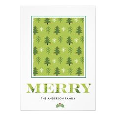 Holiday Joy Merry  Christmas Photo Card - diy christmas xmas merry christmas cyo holidays family gift idea