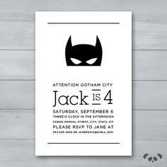 Batman Birthday Invitation Batman Invite by PandafunkCreations