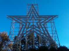 Roanoke Star Roanoke StarThe Roanoke Star is an iconic symbol of Virginia's Blue Ridge and a must-see spot when visiting the region.  The star sits perched atop Mill Mountain and overlooks the surrounding valley and Blue Ridge Mountains, serving as a beacon and welcoming sign to visitors.  It is illuminated every night.  As the largest, free-standing, man-made, illuminated star in the world, the Roanoke Star is one of the most photographed attractions in the area and the scenic overlook