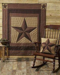 Landon Quilted Throw – Primitive Star Quilt Shop