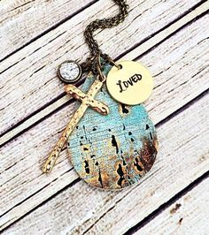 Leather Necklace, Turquoise Leather Necklace, Leather Pendant Necklace, Turquoise Necklace, Boho Leather Necklace, Turquoise Jewelry by whiteshedcreations on Etsy