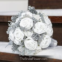 Silver & Gray Wedding Bouquets