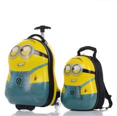 AI Despicable Me 2 Minion Jerry Stewart 16 Large Rolling Backpack ...