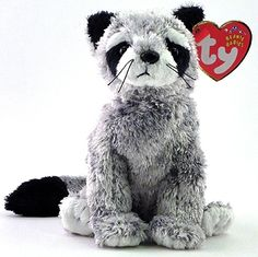 Bandito, Ty Beanie Baby raccoon reference information and photograph. Beanie Boo Dogs, Rare Beanie Babies, Beanie Buddies, Ty Beanie Boos, Beenie Babies, Ty Stuffed Animals, Stuffed Toys, Ty Peluche, Ty Bears