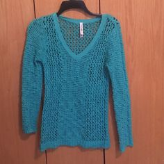 Blue Sweater Blue knit sweater with v-neck. Aeropostale Sweaters V-Necks