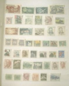 Stamps Small collection of 43 Stamps from Czechoslovakia st05 just £2.95