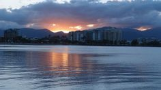 Sunset over the Cairns Esplanade