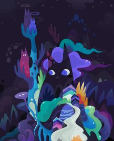 dark-side cats by zutto , via Behance