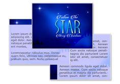 Follow The Star Powerpoint Template
