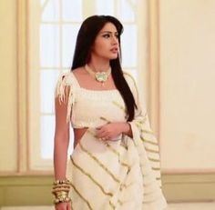 Image result for anika pink saree in ishqbaaz