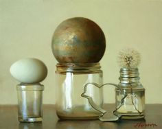 "[Oddball collection] --Artodyssey: Jeffrey T. Larson Really appreciate not only the composition, but the seeming incongruity of the objects themselves; they don't ""go together"", in the usual sense of the word. Lovely!"