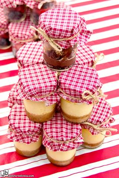 BBQ Engagement Party Homemade Desserts in mason jars