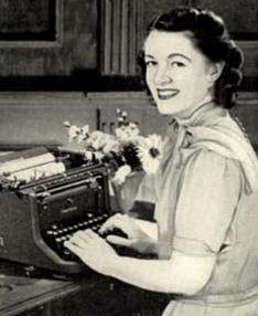 Underwood typewriter ad.