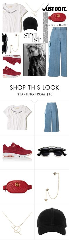 """""""Just do it"""" by avete ❤ liked on Polyvore featuring Hollister Co., Fendi, NIKE, Gucci, Zimmermann, A Weathered Penny, rag & bone and justdoit"""