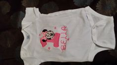 Minnie Mouse 1st Birthday Onesie by cassidel on Etsy, $24.99