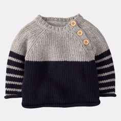 Baby Boy Knitting Patterns, Baby Sweater Patterns, Baby Cardigan Knitting Pattern, Knitting Designs, Knitting Ideas, Free Knitting, Baby Boy Sweater, Knit Baby Sweaters, Winter Sweaters