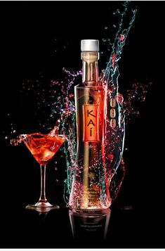 Product Advertisment design - photoshp (water/liquid/alcohol)