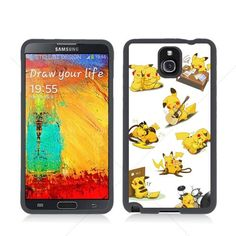 Pokemon Cute Pikachu Samsung Galaxy Note 3 III N9005 TPU Soft Black or White case (Black). Make your Unique, Exclusive & Fashionable phone case. Keep your phone safe & protected in style with this TPU case with Aluminum Back Piece. Anti-slip properties gives your smart phone more grip. Unique design allows easy access to all buttons, controls & ports without having to remove the skin. Raised edges recess your screen to protect it when placed face down.