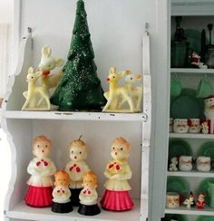 Vintage Gurley candles for Christmas