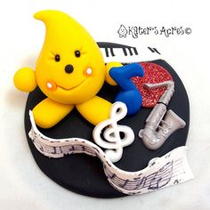 Musical Parker Figurine - Polymer Clay Character by KatersAcres