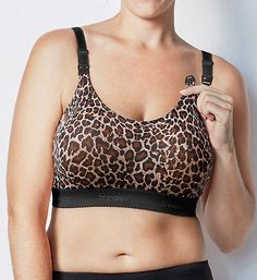 Leopard Comfortable No Wire Nursing Bras - Bravado Designs