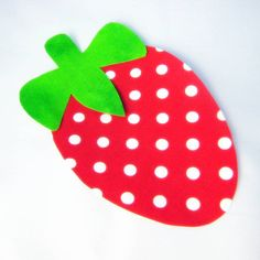 Strawberry Iron On Applique  No Sew  Great by NewEnglandQuilter