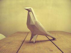 Bird pigeon sculpture papercraft by DearestBambi on Etsy