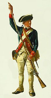 Outfitting colonial soldiers was something of a challenge for the colonial governments. I learned that rifled firearms were used during the war.