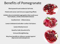 Pomegranate the Superfood! Add pomegranate seeds to your salads, have them as a snack or even better, for breakfast! Holistic Nutrition, Health And Nutrition, Health Foods, Health Benefits, Health Care, Stop Eating, Clean Eating, Eating Healthy, Healthy Tips